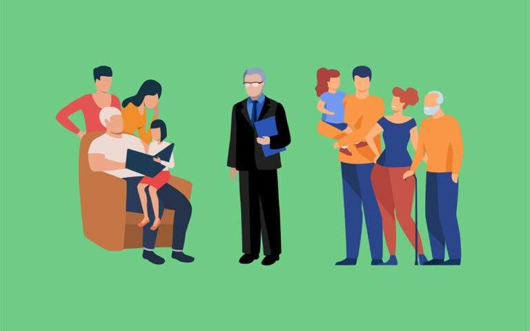 Familie programma's richten zich speciaal tot alle familieleden (kinderen, partner, ouders..) van de verslaafde. Alle deze generaties staan samen rond de expert.